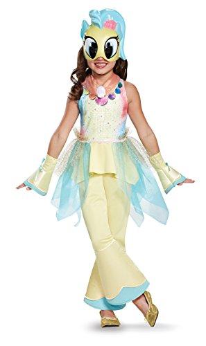 Princess Skystar Movie Deluxe Costume, Yellow, Small (4-6X)