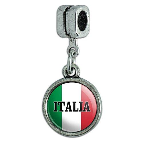 GRAPHICS & MORE Italia Italy Italian Flag Italian European Style Bracelet Charm Bead