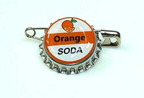 1 ORANGE SODA bottle cap pin INSPIRED by Disney UP