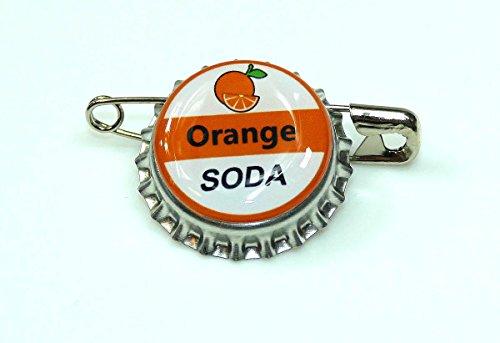 1 ORANGE SODA bottle cap pin INSPIRED by Disney -