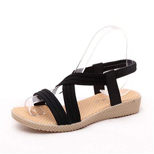 Gabbana Dolce Sandals Men - NNHLPO& Gladiator Sandals Women Nice Summer Shoes Beach Sandalias Mujer Platform Sapato Feminino Fashion Lady Shoes Flat Comfortable Black 9