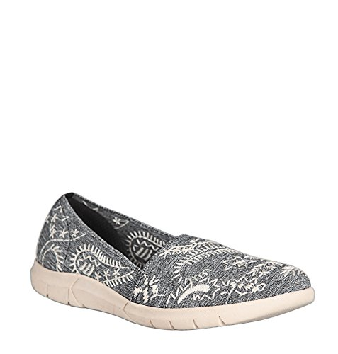 Slip-on Nero Ricamato Cucito Avenue Womens Kirstie