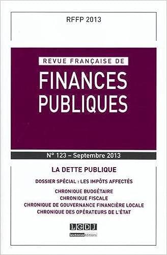 Livre gratuits en ligne Revue française de finances publiques, N° 123, Septembre 2013 : La dette publique pdf ebook