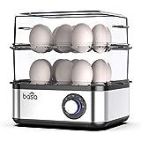 BASA Egg Cooker, 2018 New Multifunctional Electric Hard Boiled Egg Maker, 16 Egg Large Capacity Rapid Egg Boiler Steamer With Automatic Shut Off for Hard Boiled Eggs, Poached Eggs, Steamed Food