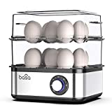 Egg Boiler, BASA 2018 New Multifunctional Electric Hard Boiled Egg Maker, 16 Egg Large Capacity Rapid Egg Cooker Steamer With Automatic Shut Off for Hard Boiled Eggs, Poached Eggs,Steamed Vegetables,Dumplings, Seafood