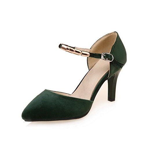 Sandales 5 foncé Femme Vert 36 Compensées BalaMasa 6Oqdv6