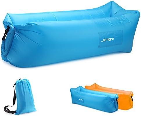 JSVER Sofa Hinchable del Aire del Ocioso de con el Paquete Portable para Viajar, Acampar, Senderismo, Piscina y Partidos de la Playa