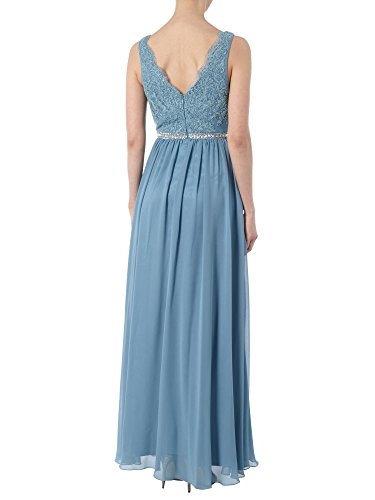 Spitze Brautmutterkleider Braut La Linie Bodenlang Elegant Abendkleider A Hell Blau Tanzenkleider Rock Marie qrIf0xw5r