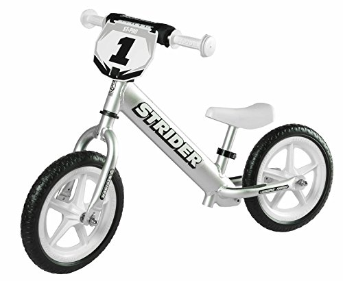 Strider - 12 Pro Balance Bike, Ages 18 Months to 5 Years, Silver by Strider (Image #1)