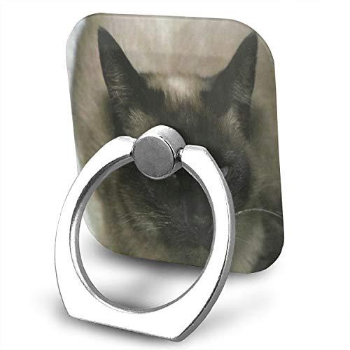 (Ring Holder Siamese Cat Ring Mobile Phone Holder Adjustable 360°Rotation Finger Ring Stand)