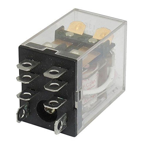 Nrpfell JQX-13F LY2 AC 24V Bobine 8 broches DPDT LED rouge Relais electromagnetique