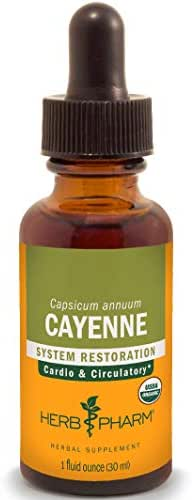 Herb Pharm Certified Organic Cayenne Liquid Extract for Cardiovascular and Circulatory Support - 1 Ounce