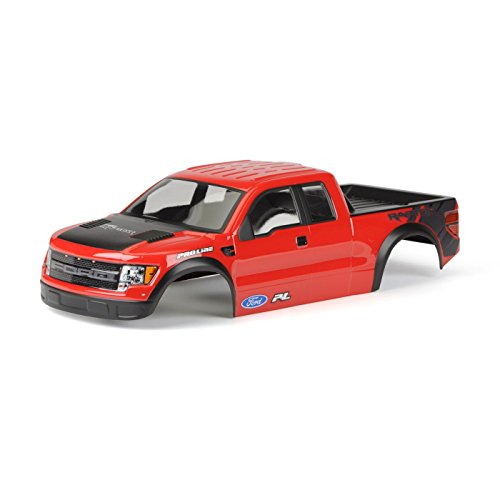 Painted Pre Body (PROLINE 334815 Ford F-150 Svt Raptor Body Pre-Cut/Pre-Painted (Red))