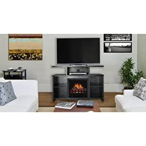 Decor Flame Media Electric Fireplace For Tvs