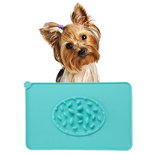 Beita Dog Food Mat to Slow Down Eating FDA Food-Grade Silicone Feeding Mat 18.7×11.6Inch Placemat for Pets Anti-Overflow…