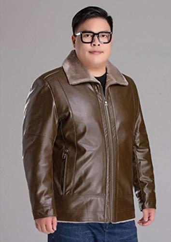 D'âge Brun Xxl De Hommes Moyen Zjexjj Grande couleur Veste Pour Cuir Taille En Taille wa8841qR