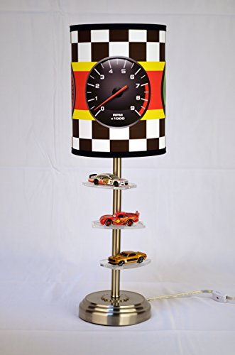 Lampables for Hot Wheels and 1/64 Scale Miniatures Collector Table/Desk Lamp with Racing Gauge Shade (Hotwheels and 1/64 Scale Miniatures Collector's Table/Desk Lamp with Racing Gauge Shade)