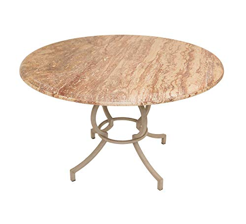 Wood & Style Furniture Round Dining Table, Cinnamon/Sienna Home Office Commerial Heavy Duty Strong - Furniture Dining Travertine