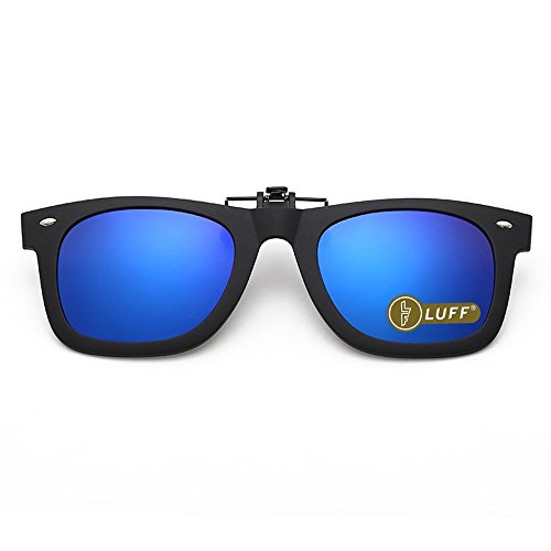 98df8b0b121e Polarization Clip-On Sunglasses Clips Flip up Myopic Sunglasses for Outdoor  (Blue-1