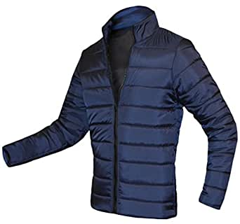 Acquaa Men's Casual Jacket Stand Collar Winter Warm Down