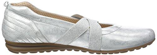 Gabor Shoes Comfort, Bailarinas para Mujer Blanco (ice 60)