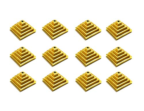 (Box of 12 Gold Miniature Flag Stands, Holders for Almost All Mini 4