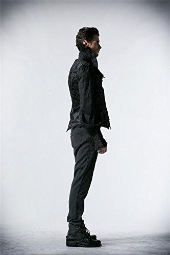 Impression Gilet 6 Gothique Manches Court Aristocrate V Hommes Col Shackles Sans Tailles Royal Punk Devil Gilet 6EXOqv