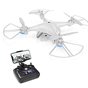 Drone with Camera, Holy Stone HS110D Drone for Beginners with 720P HD FPV Camera 120° FOV RC Quadcopter for Kids and Adults with Altitude Hold, Headless Mode, 3D Flips and Modular Battery from DEERC