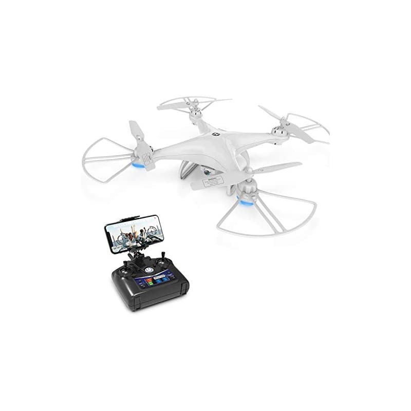 Drone with Camera, Holy Stone HS110D Drone for Beginners with 720P HD FPV Camera 120° FOV RC Quadcopter for Kids and Adults with Altitude Hold, Headless Mode, 3D Flips and Modular Battery
