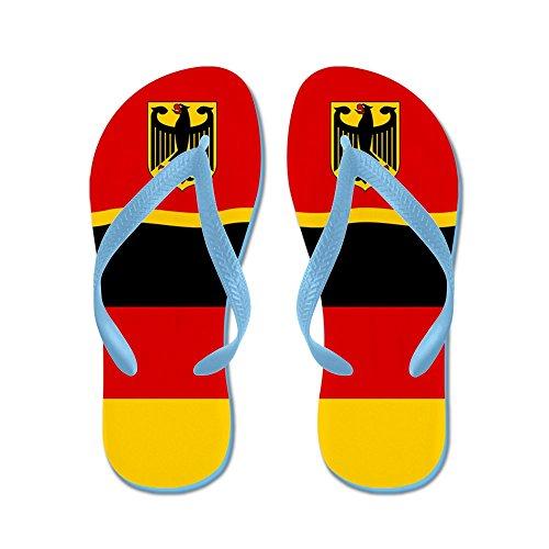 CafePress German Germany Deutschland Flag - Flip Flops, Funny Thong Sandals, Beach Sandals Caribbean Blue