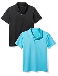 Amazon Essentials Boys Boys' 2-Pack Performance Polo