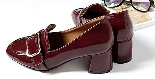 Talon Chaussures Travail Aisun Bloc Mode Escarpins Basse Automne De Femme Bordeaux nFXnxfE7C