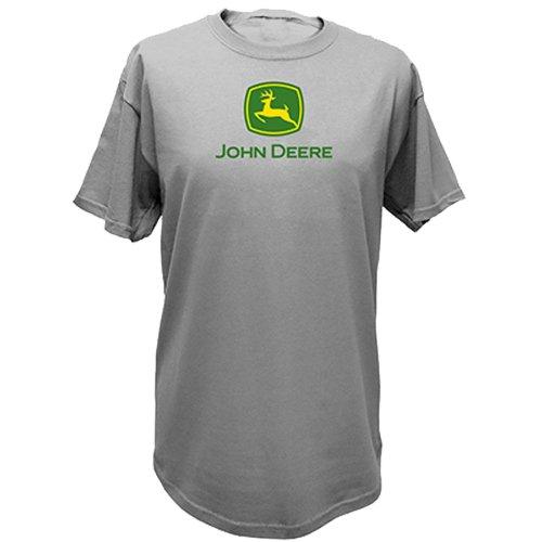 John Deere Logo T-Shirt - Men's - Oxford Gray, Large from John Deere