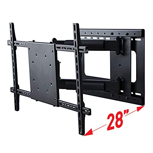 Full Motion TV Wall Mount with Long 28 Inch Extension, Fits