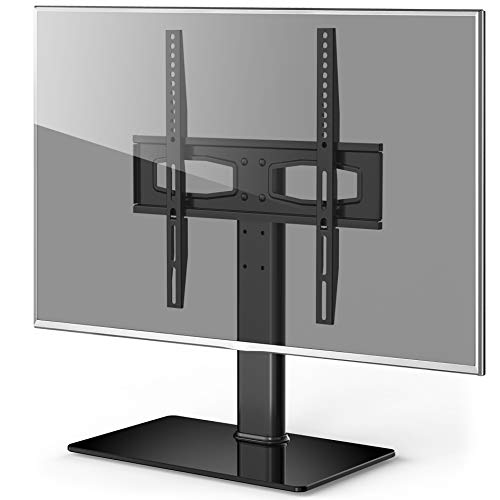Fitueyes Universal TV Stand/Base Tabletop TV Stand with Mount for up to 50 inch Flat Screen Tvs Vizio/Sumsung/Sony Tvs/Xbox One/tv Components Max VESA 400x400 TT104201GB