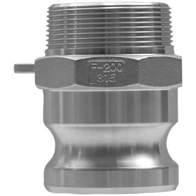 Global Type F Adapters 1'' Stainless Global Malenpt X: 238-G100-F-Ss - 1'' stainless global malenpt x