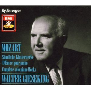 MOZART: COMPLETE SOLO PIANO WORKS (INC. PIANO SONATAS) - Walter Gieseking - 8CD BOX SET- EMI