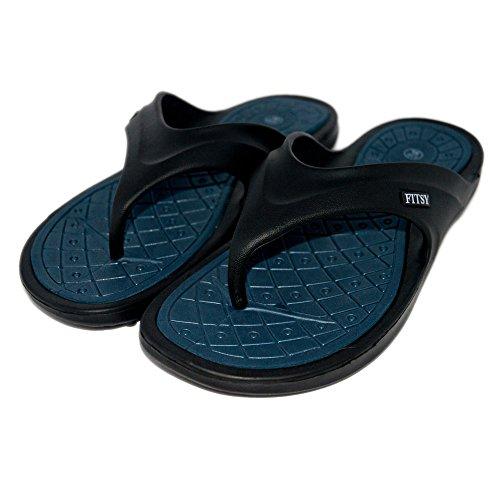 Fitsy Cayleb Menn Sommer Sandaler Thong - Flip Flops Hjemme, Reise Komfort  Sklisikre Bunnen Tøfler