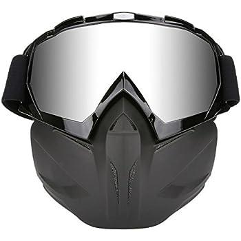 JamieWIN Youth ATV Helmet Mask Motorcycle Full Face Mask Goggles Motocross Dirt Bike ATV MX Goggles for Desert Offroad Riding Racing Fits Men Women Kids ...