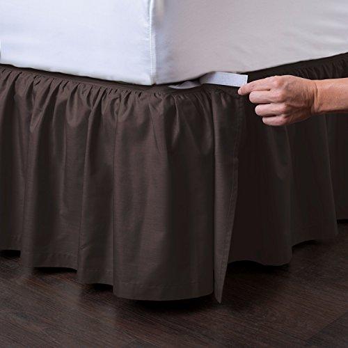 Ashton Detachable Bedskirt (Queen Size, Chocolate, 21