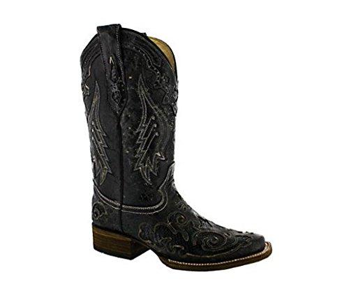 Vintage Square Toe Boots - 5