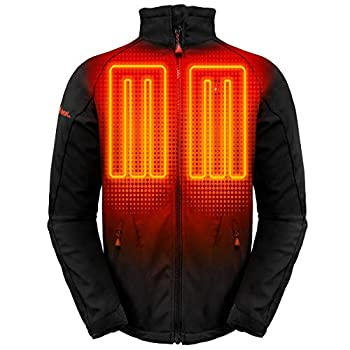 Image of ActionHeat 5V Battery Heated Jacket for Men with Tri-Zone Heating, Touch Control, Machine Washable - Winter Heating Jacket for Skiing, Camping, Motorcycling, Hiking - Black Jackets