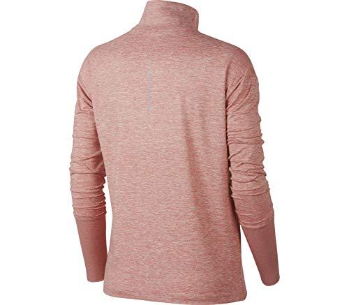 Mujer Hz T Pink Long Nk Elmnt shirt Sleeved Top W htr Rust Nike AwIz4cxq6K