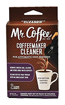 (Twinkle Coffeemaker Cleaner & Descaler - Compatible with Mr. Coffee & All Automatic Drip Units - Set of 2 (Total 4 Packets))