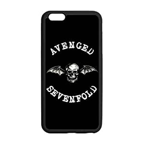 Protective TPU Rubber Coated Case Cover for iPhone 6 Plus - A7X Avenged Sevenfold WANGJING JINDA