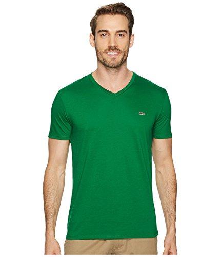 Lacoste+Men%27s+Short+Sleeve+V+Neck+Pima+Jersey+Shirt+T-Shirt%2C+Th6710%2C+Rocket+Green%2C+5