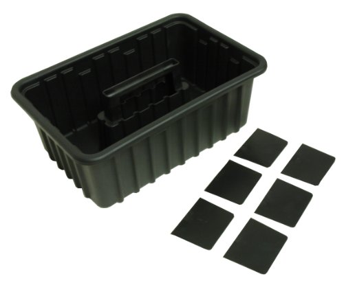 Homak Plastic Tote with 6 Dividers, HA01016116 (Plastic Tray Tool)