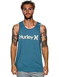 New Hurley Men's One & Only Tank Cotton Blue