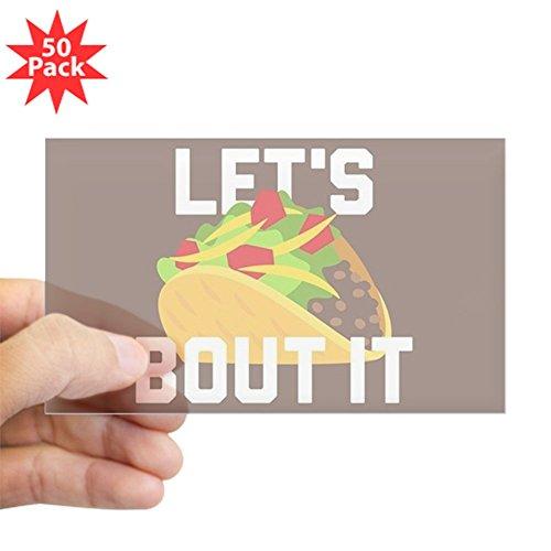 CafePress - Let's Taco Bout It - Sticker (Rectangle 50 pk) by CafePress