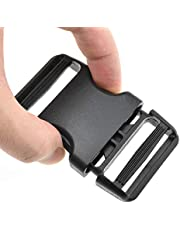 """HAO PRO Quick Side Release Buckles Clips Snaps Dual Adjustable No Sewing Heavy Duty Plastic 1.5"""" Wide for Nylon Strap Boat Cover Backpack Fanny Pack Nylon Webbing Belt Dog Collars"""